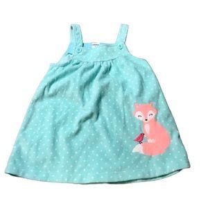 5/$25 Carter's 24 mos Girls Baby Fox Soft Dress